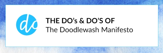 The Do's & Do's of the Doodlewash Manifesto - A doodlewash is a watercolor painting or sketch