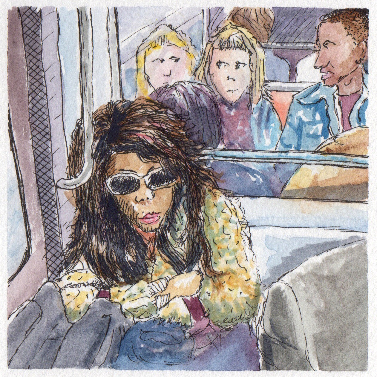 On The Paris Metro