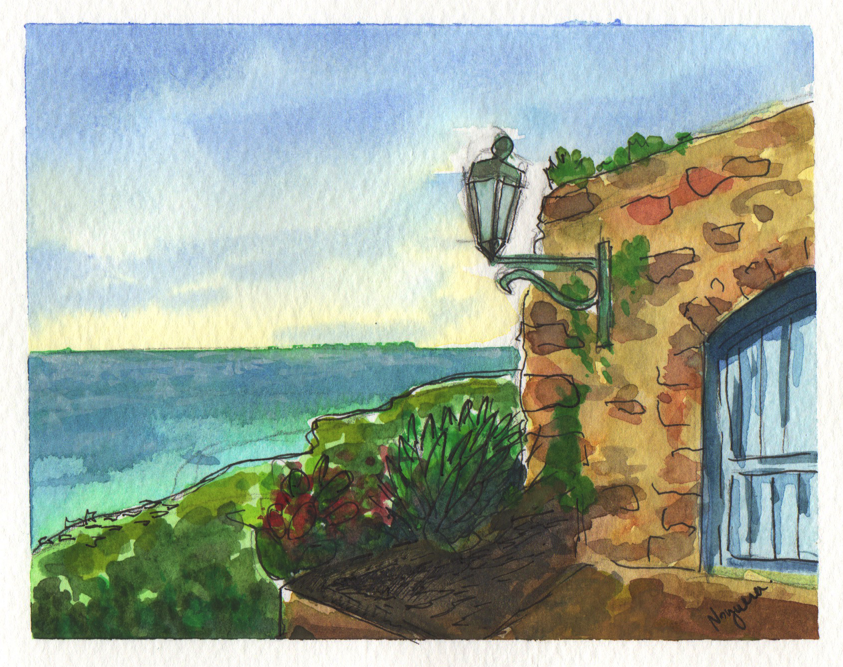 GUEST DOODLEWASH: House Above The Sea