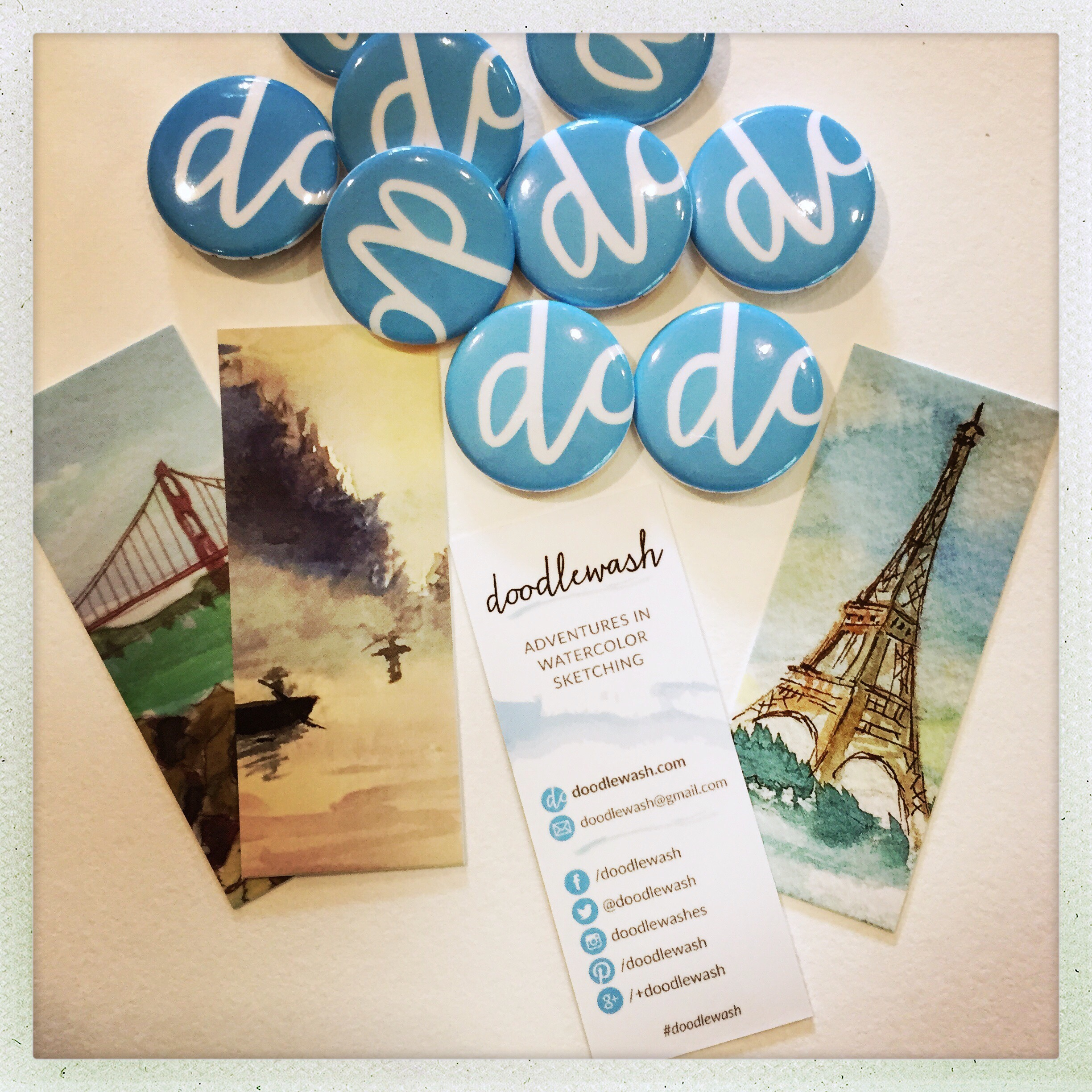 Doodlewash Cards & Buttons