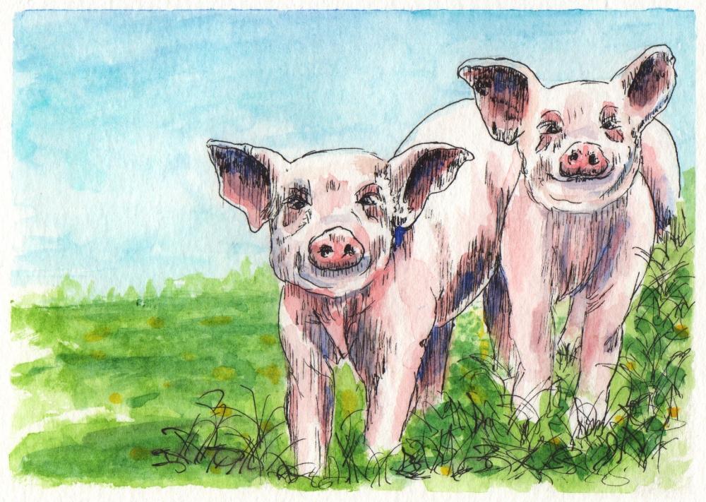 Les Deux Cochons