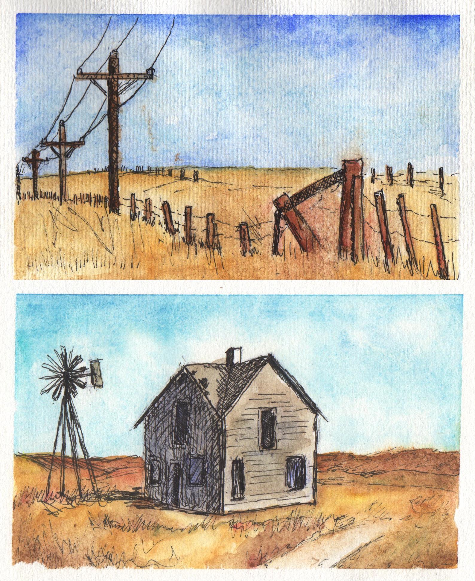 GUEST DOODLEWASH: Abandoned Prairie