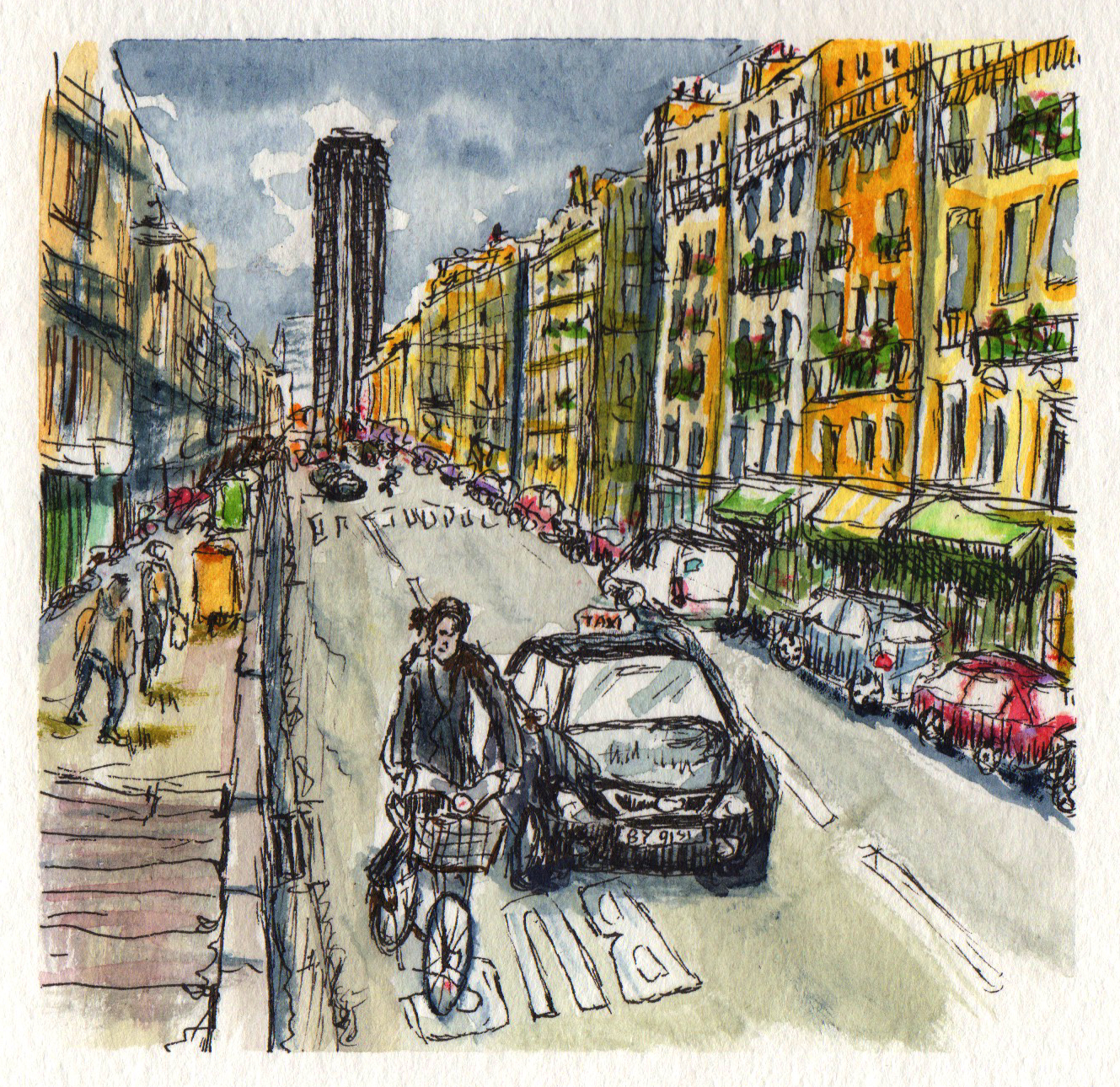 Rushing Through Montparnasse