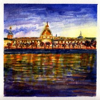 Night Falling on Lyon by Charlie O'Shields