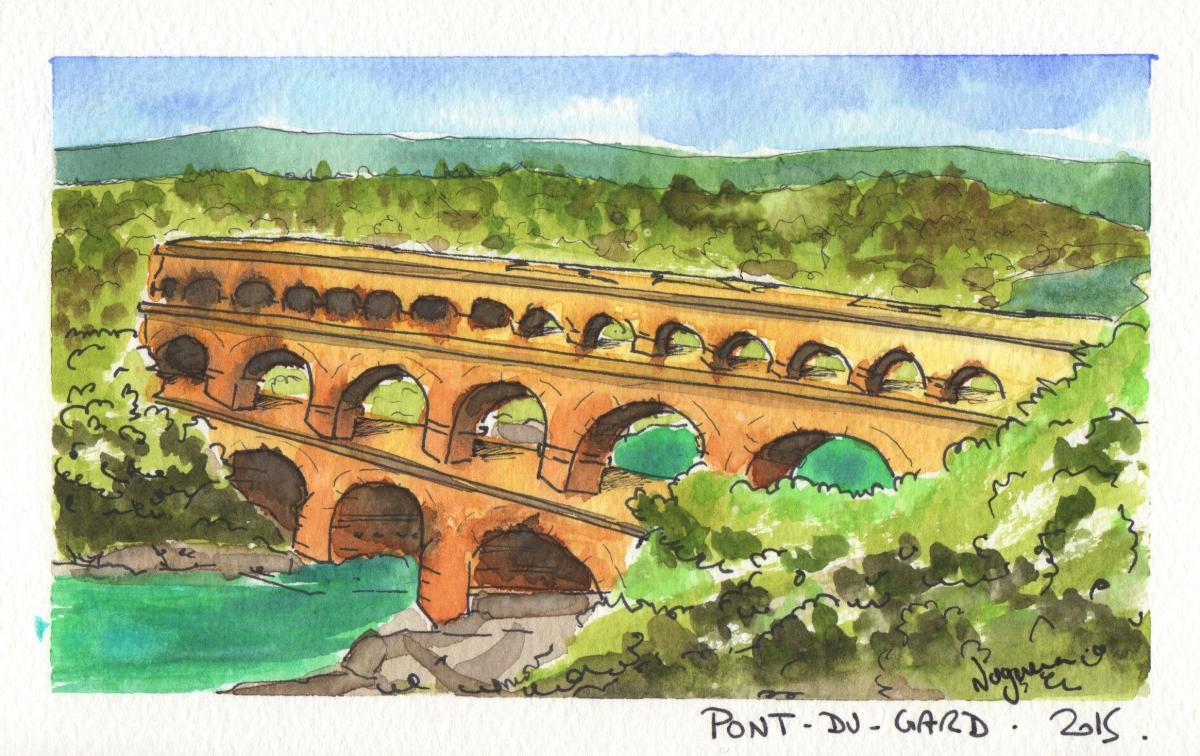 Pont-du-Gard by @Phinomet