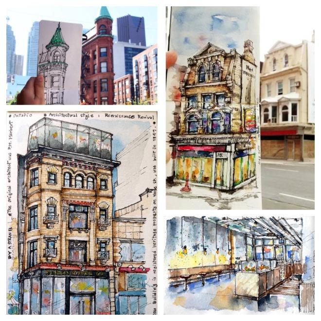 Urban Sketching by Amara Strand