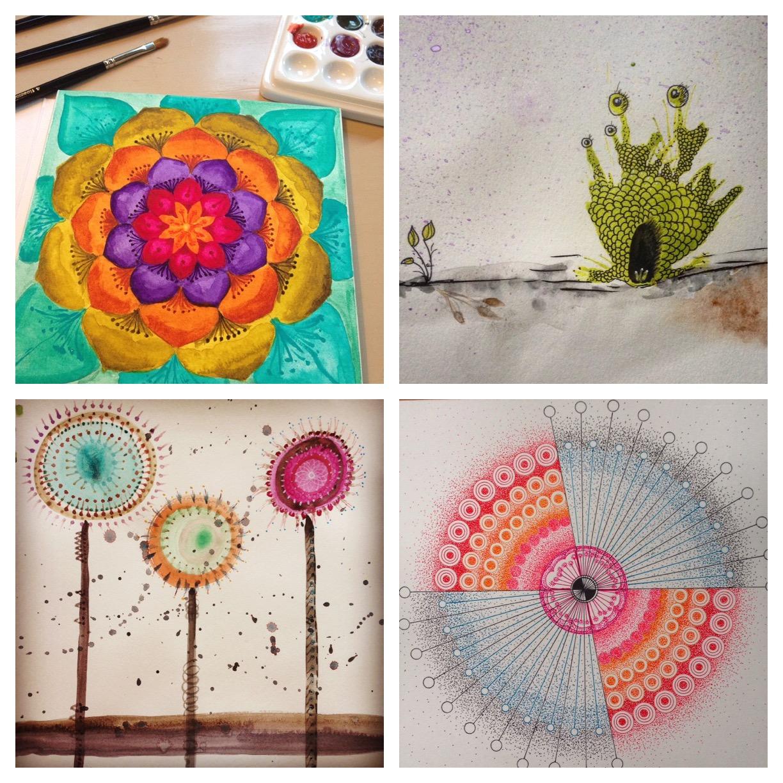Guest Doodlewash: Making Mandalas