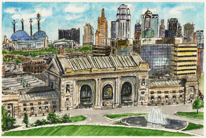 Kansas City Skyline by Charlie O'Shields