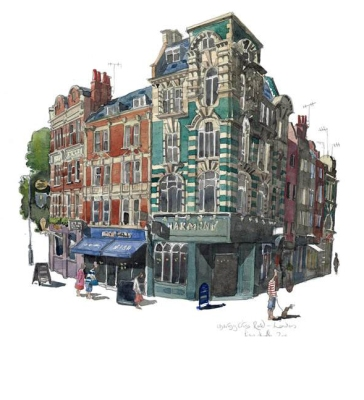 Charing Cross Road, London by Liam O'Farrell - Doodlewash