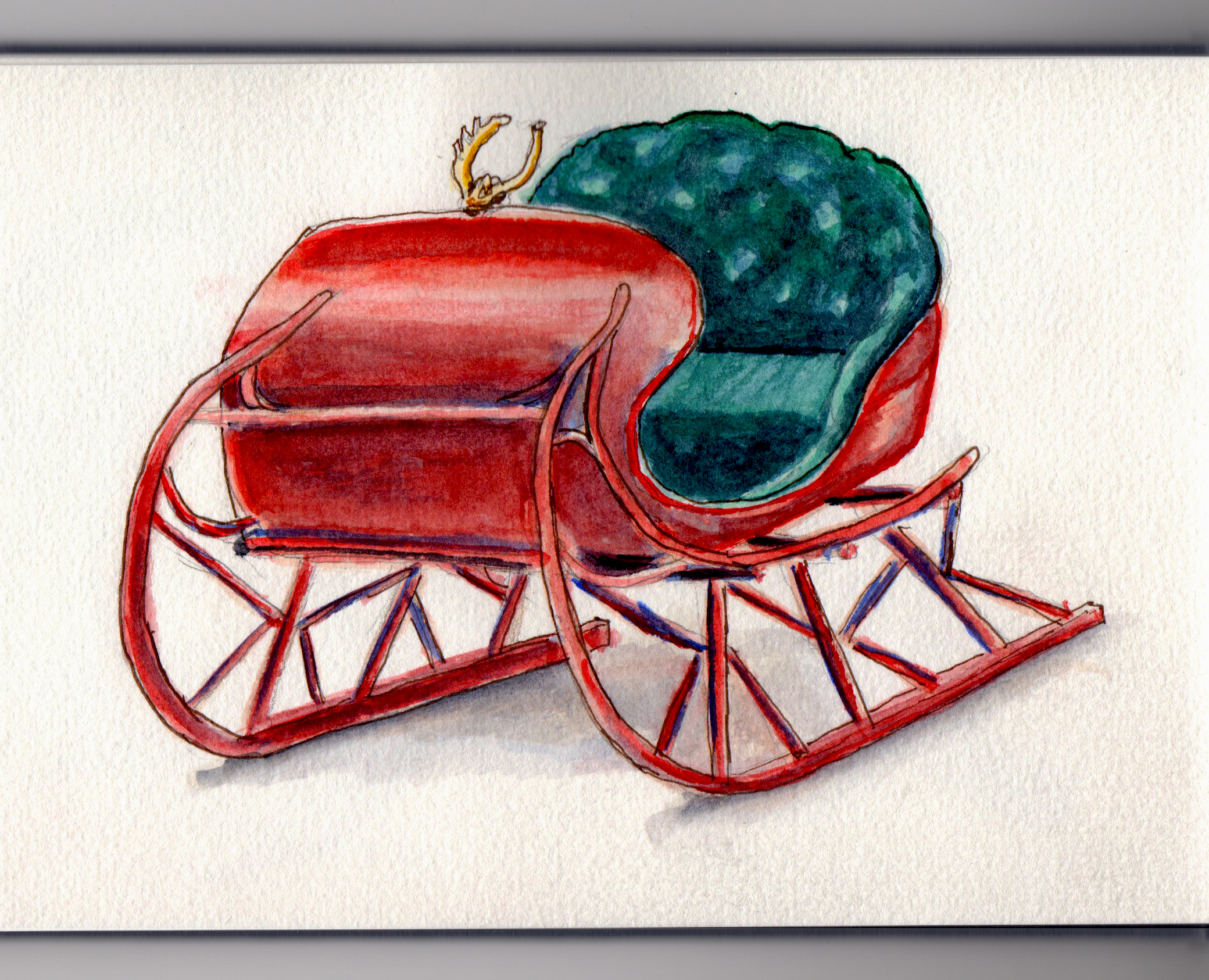 One Reindeer Open Sleigh