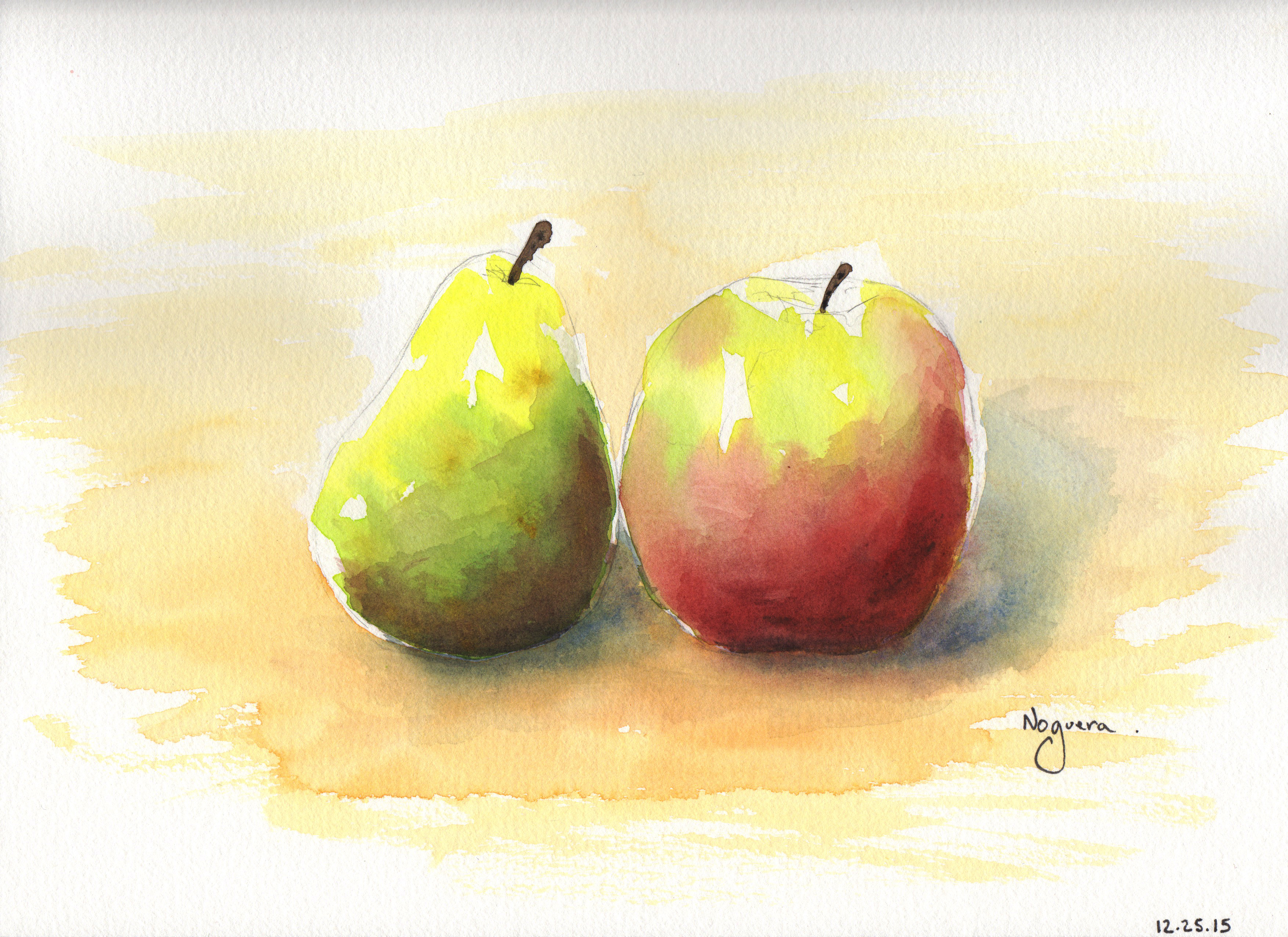 GUEST DOODLEWASH: Pear & Apple