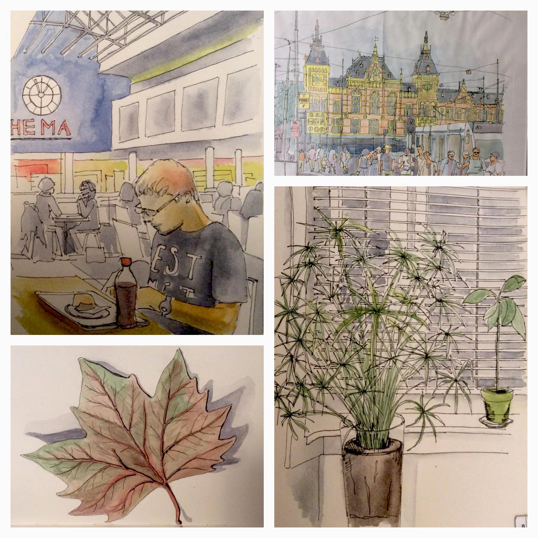 GUEST DOODLEWASH: Urban Sketching in Amsterdam