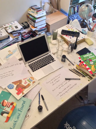 Work table of Scott Torrance