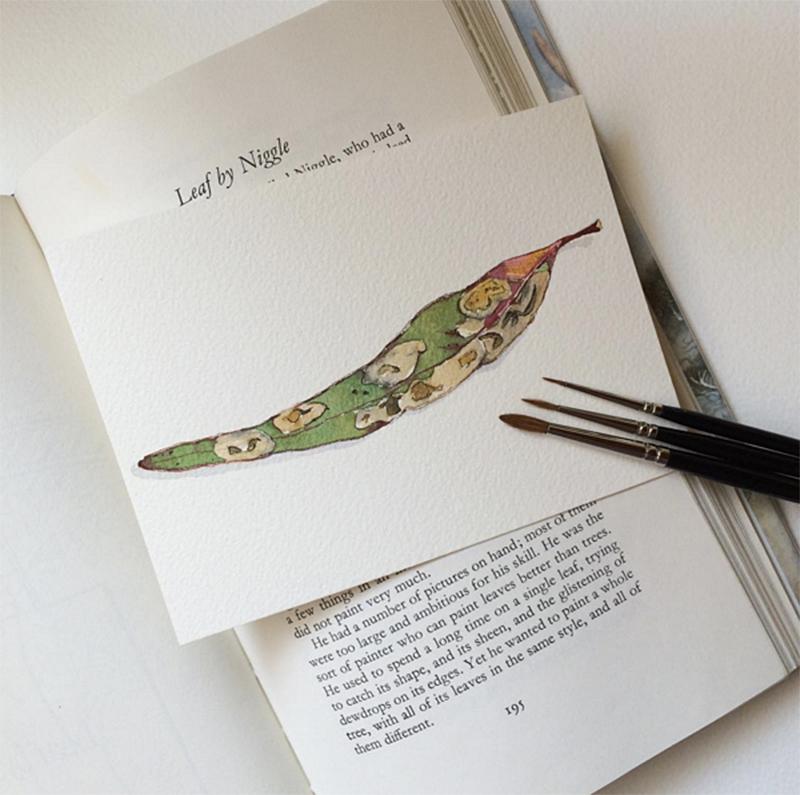 GUEST DOODLEWASH: Painting A Single Leaf