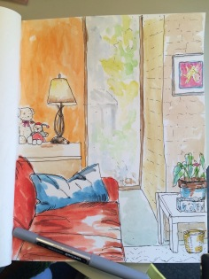 My Office - Doodlewash by Jane Cobb