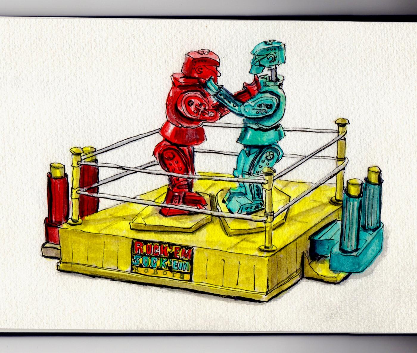 Rock 'Em Sock 'Em Robots Doodlewash