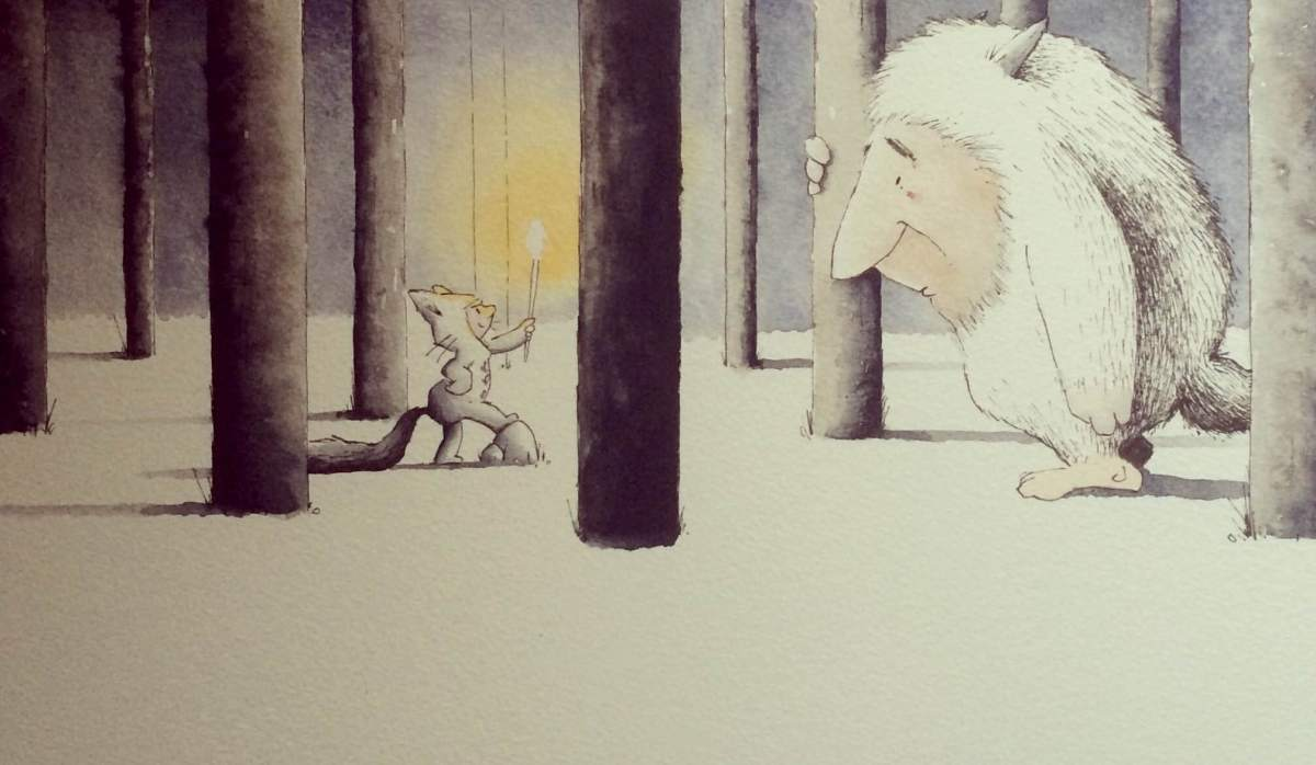 Doodlewash by Luke Scriven - watercolor sketch and children's illustration of Maurice Sendak Where the Wild Things Are