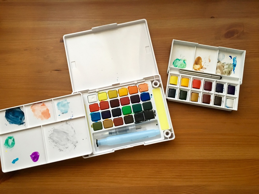 Open Koi and Windsor and Newton Cotman sketch box sets