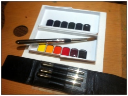 Doodlewash by Schokohund - Mijello watercolor palette, Austria