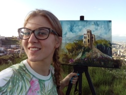 Doodlewash - watercolor painting plein air and portrait of Anna Fedorovich