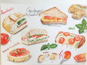 Doodlewash by YuLing Yiu Sandwiches with Tomato