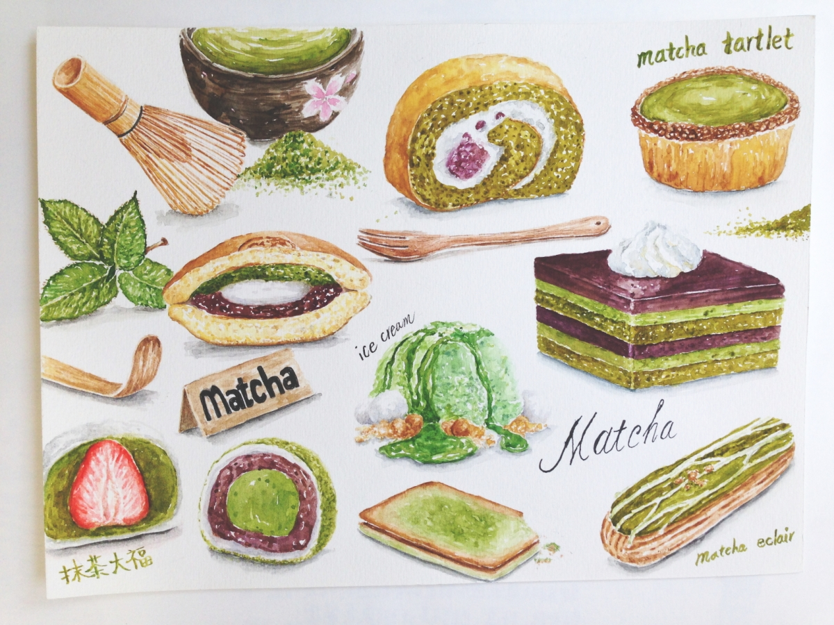 Doodlewash by YuLing Yiu Various Matcha recipes