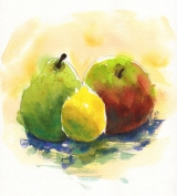 Doodlewash Mixed Fruit World Watercolor Month July 2016 - worldwatercolor.com