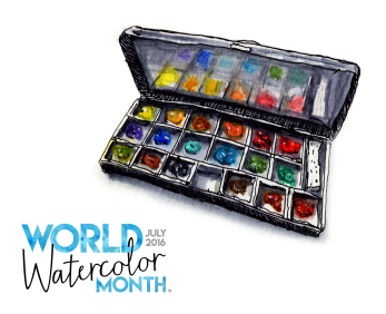 World Watercolor Month Graphic for Social Media #WorldWatercolorMonth