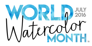 World Watercolor Month July 2016 Primary Logo
