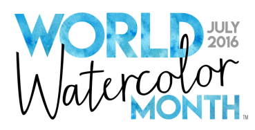 World Watercolor Month July 2016 - worldwatercolor.com - Founded by Charlie O'Shields Doodlewash