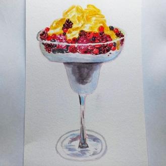 Yen And Pens Doodlewash of berry dessert