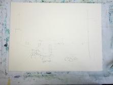 Asuka Kagawa Watercolor Process Step 1