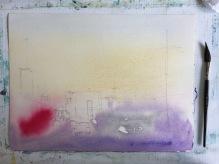 Asuka Kagawa Watercolor Process Step 2