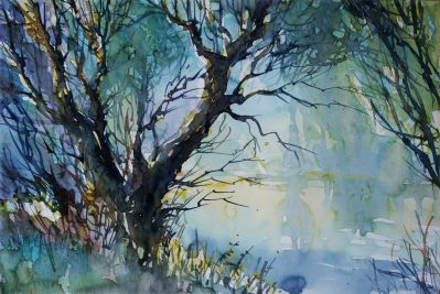 Doodlewash Watercolor Painting by Carsten Wieland - An-der-Lahn