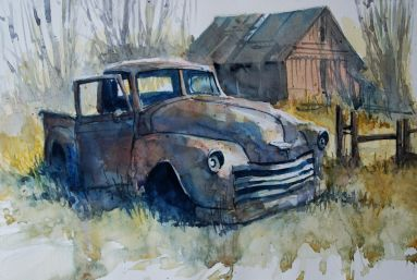 Doodlewash Watercolor Painting by Carsten Wieland - Mehr Rost
