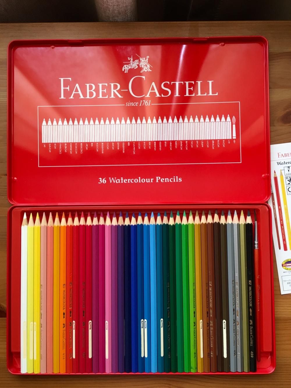 Faber-Castell watercolor pencils set