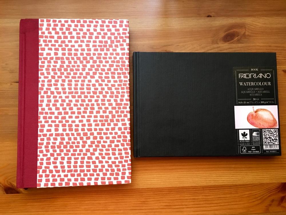 Fabriano Venezia and Fabriano Watercolour books, sketchbooks