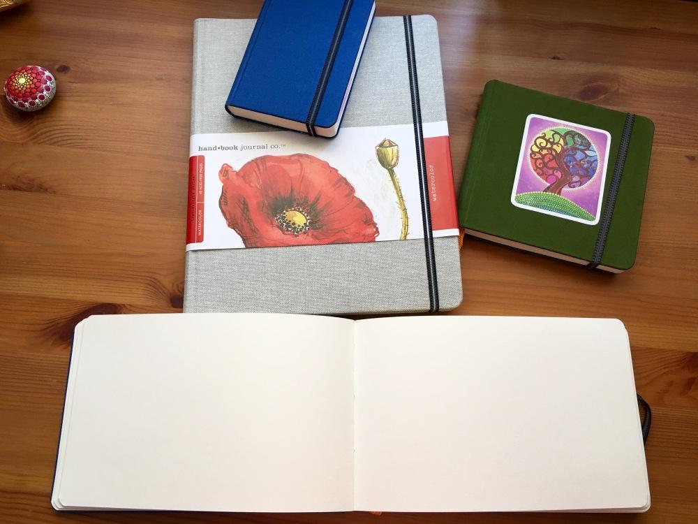 Global Art Materials Handbook Journal Travelogue series journals, sketchbooks, watercolors