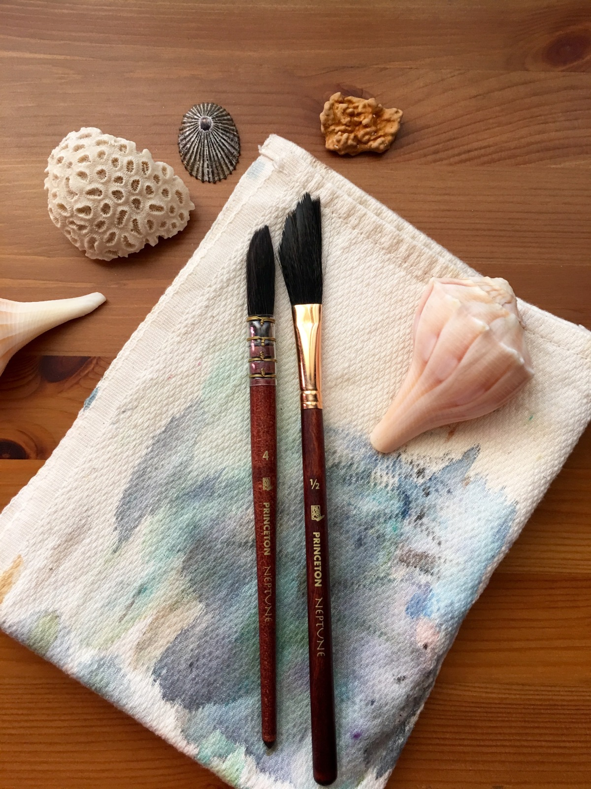 Princeton Neptune Synthetic Squirrel Quill and Dagger watercolor brushes