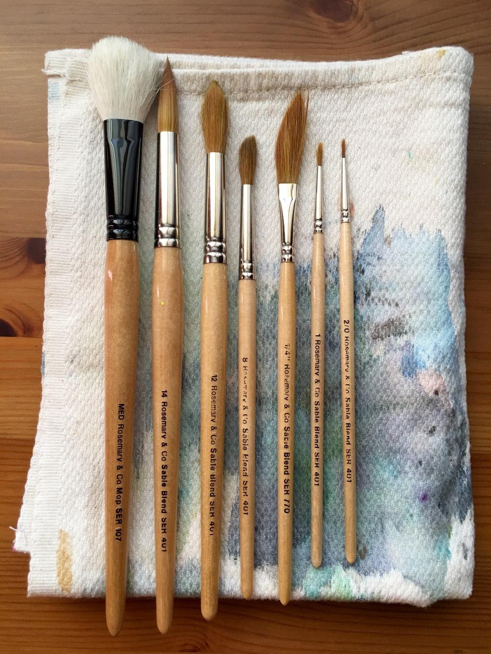 Rosemanry & Co. brushes, series 401 abd 107