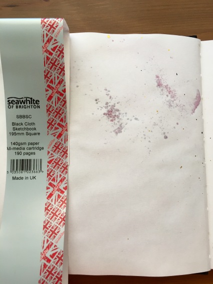 Seawhite of Brighton sketchbook with bleed through