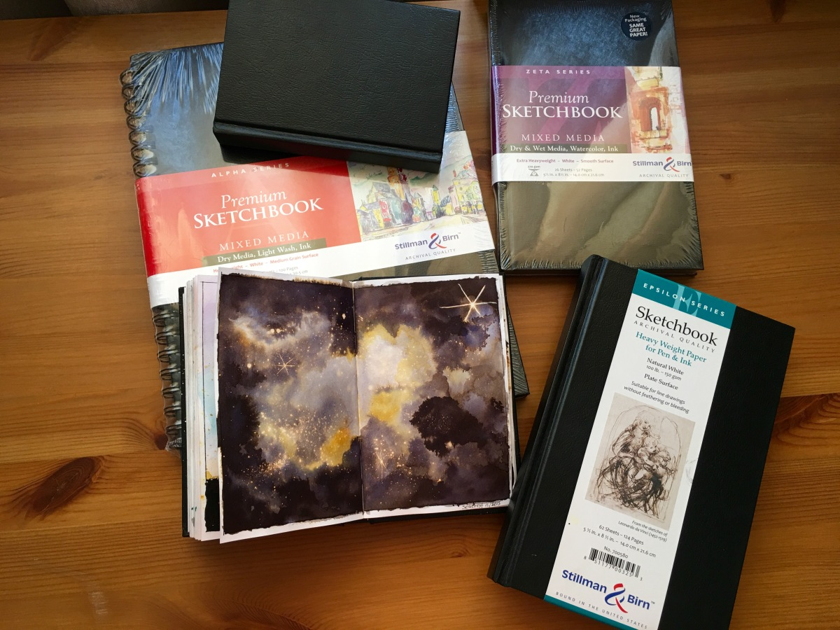 Stillman and birn watercolor and sketchbook journals