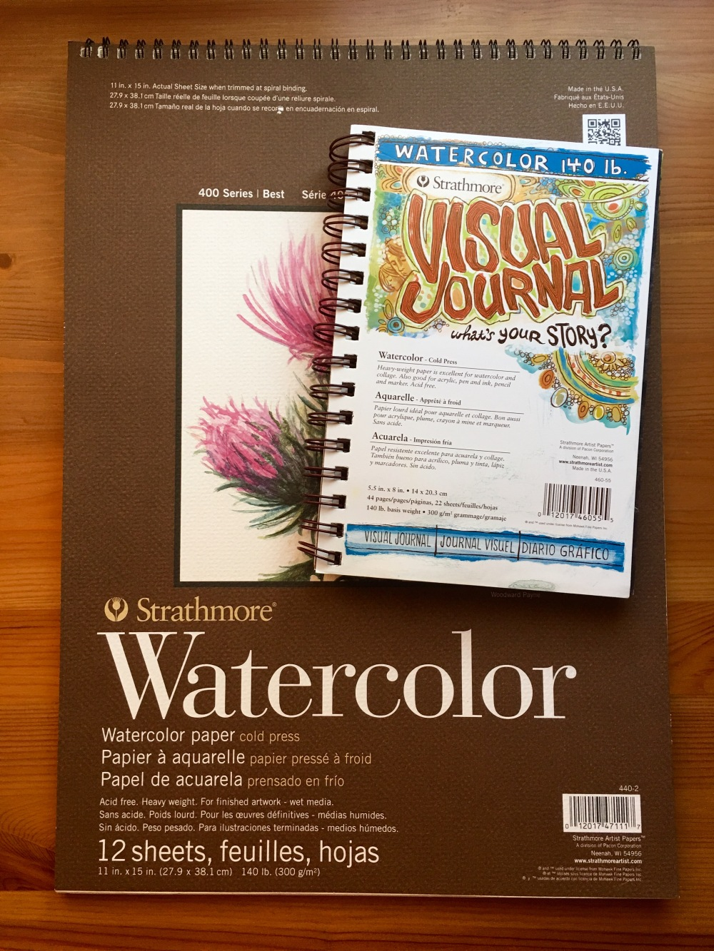 Strathmore Series 400 watercolor paper and visual journal