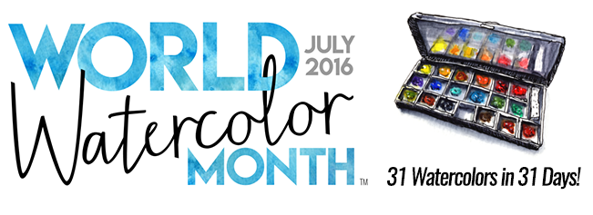World Watercolor Month July 2016 31 Watercolor In 31 Days!