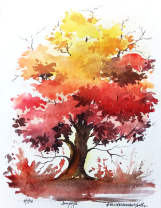 Doodlewash by Anupriya Arvind orange tree