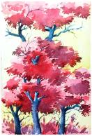 Doodlewash by Anupriya Arvind pink tree