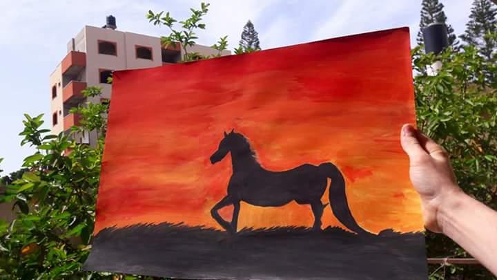 Doodlewash - Painting by Mostafa Ismael Alatbash in Gaza