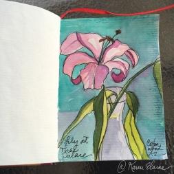 Doodlewash - #nanosketch by Karen Elaine Parsons of Lily