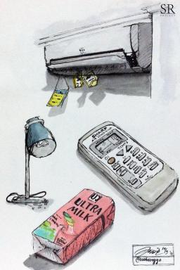 Doodlewash and watercolor sketch by Ngurah Angga of Stuff
