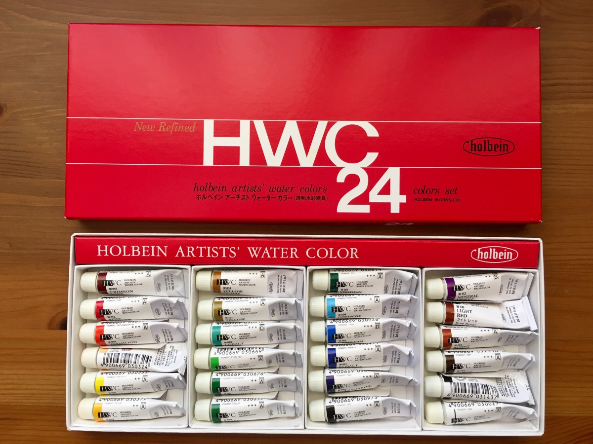 Holbein Watercolor 24 tube watercolor set